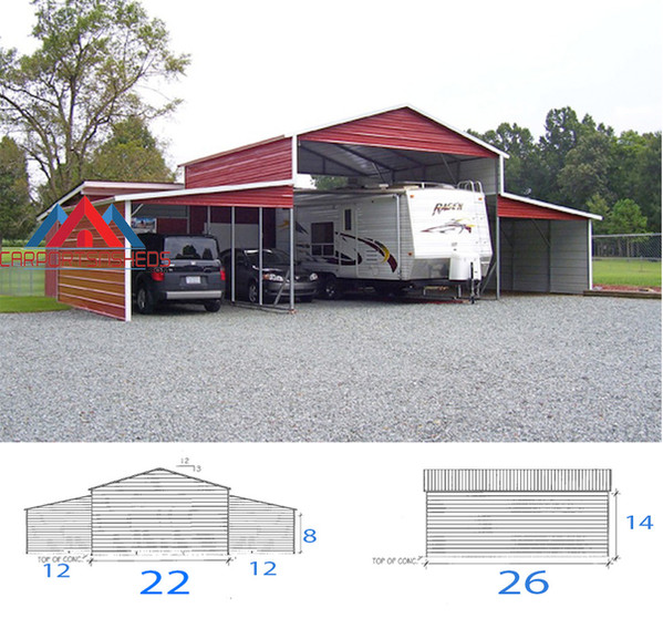 RV Cover 22x26x14 wih lean toos