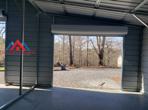 interior left side view of a 50x30 metal barn
