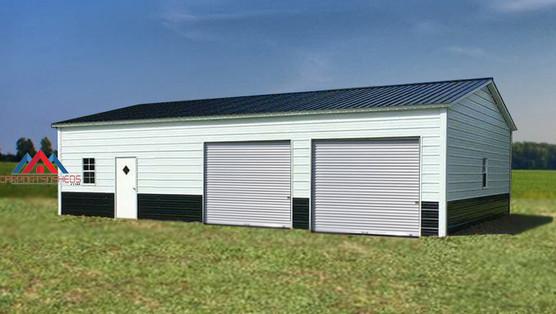 2 car Prefab Metal Garage with extra space