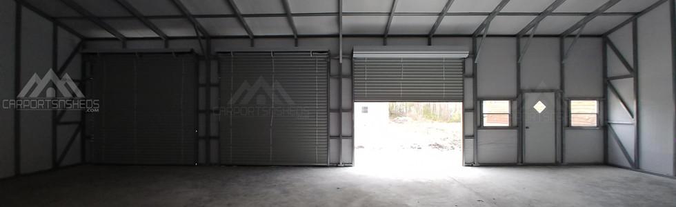 Interior view of 30x50x12 Metal Garage