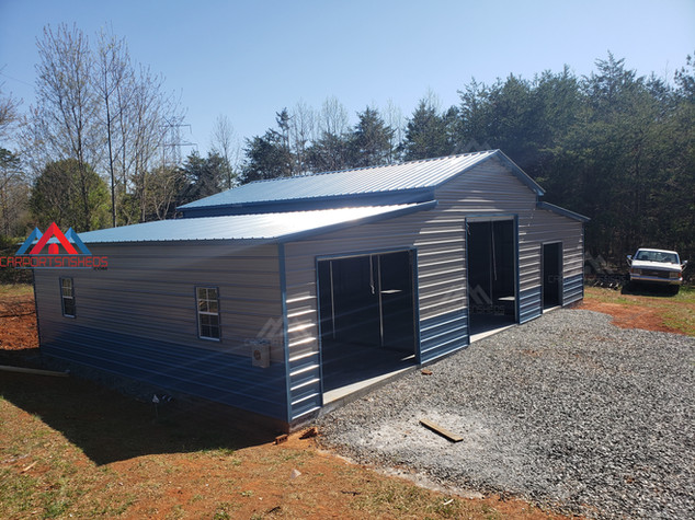 50x30x14 Metal Barn as seen from the left