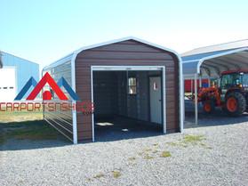 Small Single door regular style prefab metal garage