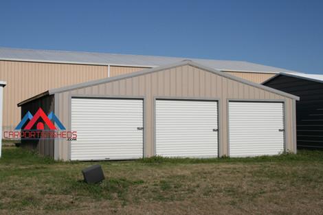 3 Door Prefab Metal Garage