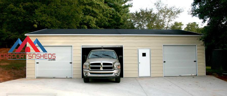 3 Car Prefab Metal Garage