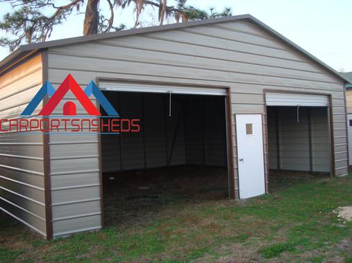 2 Door Prefab Metal Garage