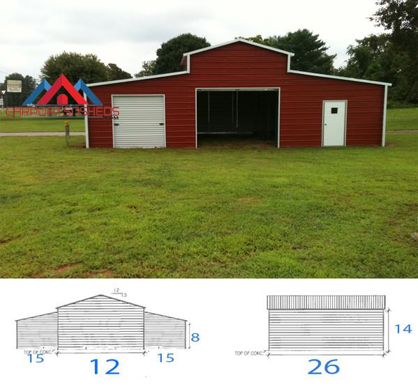 42x26x14 horizontal barn
