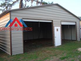 Prefab metal garage, 2 door prefab metal garage