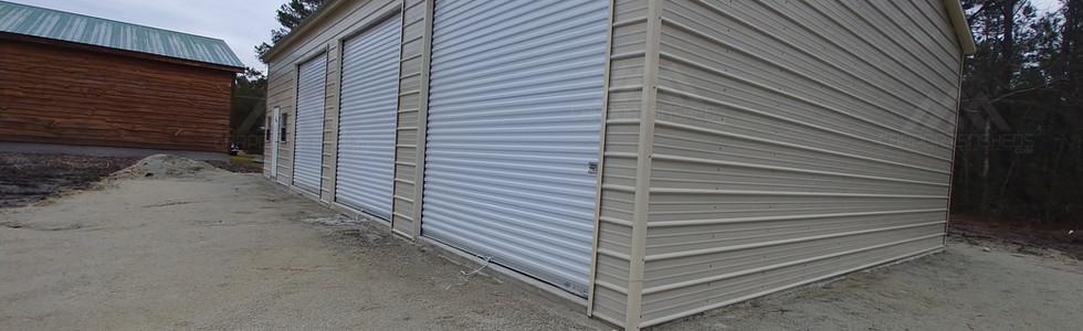 Side view of 30x50x12 Metal Garage