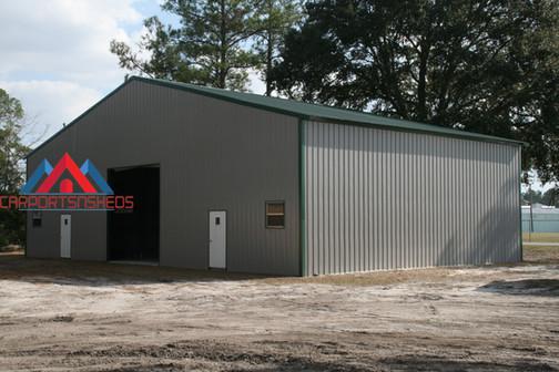 Large Single Door Prefab Metal Building