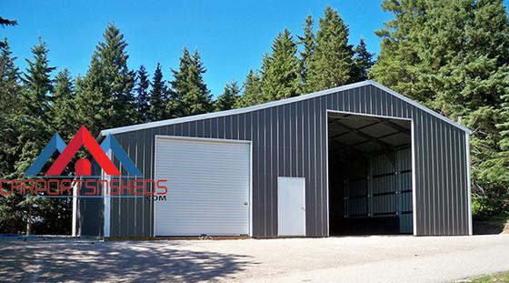 Custom Garage With Storage Unit
