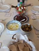 Vegetarian greek food on UK retreat