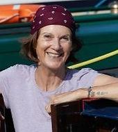 Rachel at home onboard Queen of Wands narrowboat