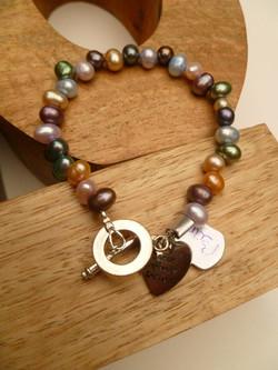 Multi Colour Pearl Bracelet