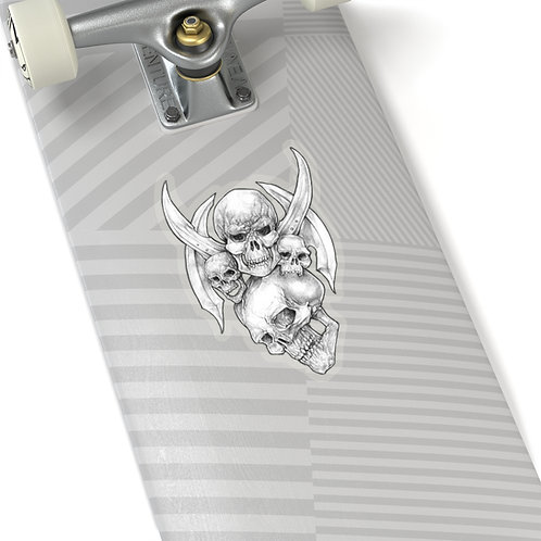 Blades & Skulls Sticker White or Transparent BG
