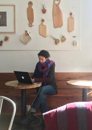 we've both spent a lot of time writing in coffee shops in Brooklyn