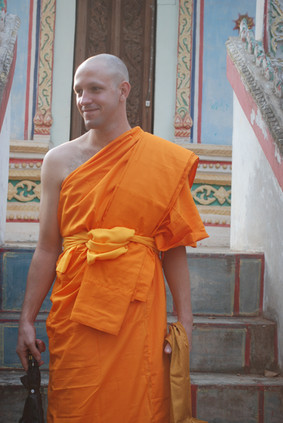 and once he was briefly a Buddhist monk