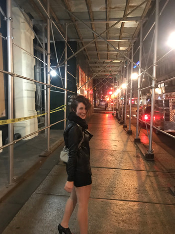sometimes she's a city bear (this was the night we got engaged!)