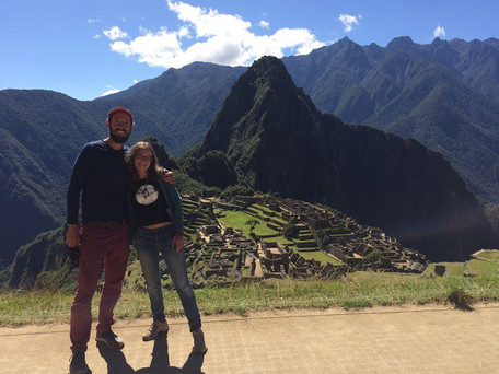 Beau's traveled a lot —he's been to 28 countries (including Peru w/ Sasha)