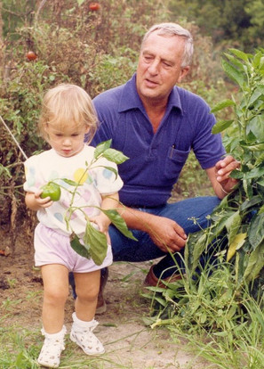 she grew up in Virginia, and sometimes wore pink shorts and investigated bell peppers in her grandfather's garden