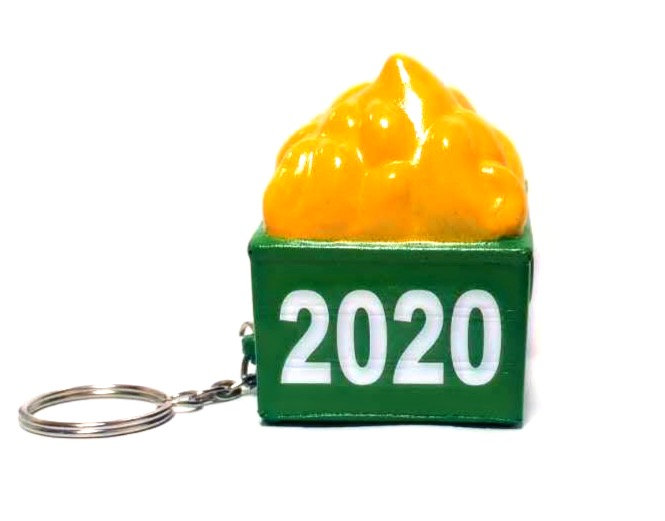 Cropduster Luggage Charm: 2020 Dumpster Fire