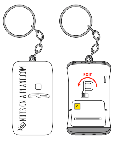 Cropduster Luggage Charm: Emergency Exit