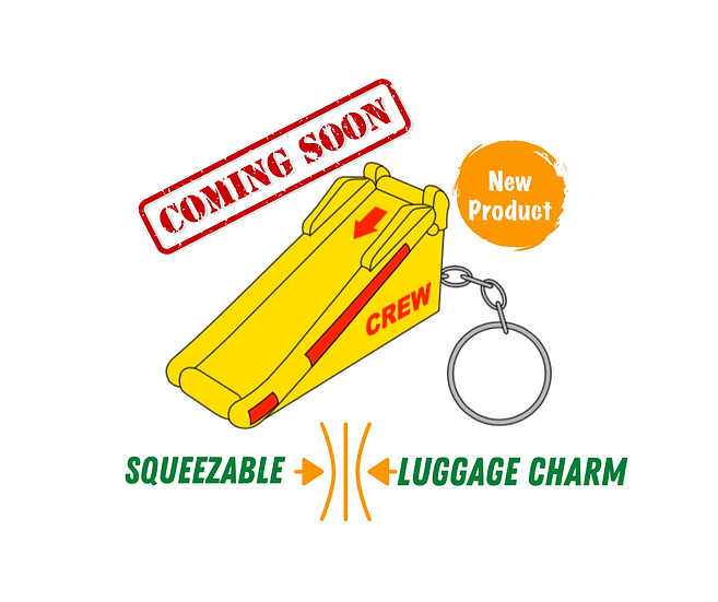 Cropduster Luggage Charm: Emergency Slide