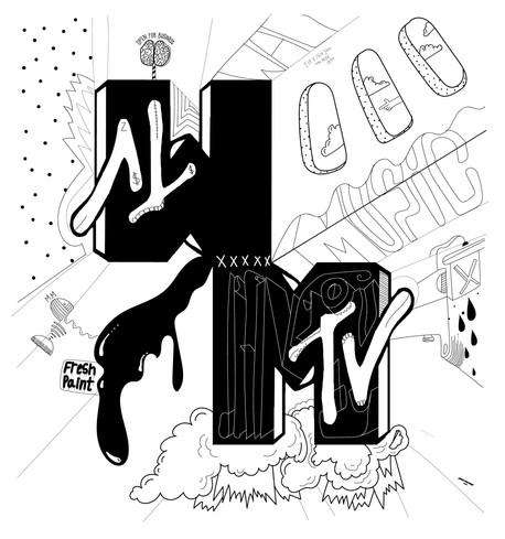 150 x 160cm --FRESH PAINT ON MTV