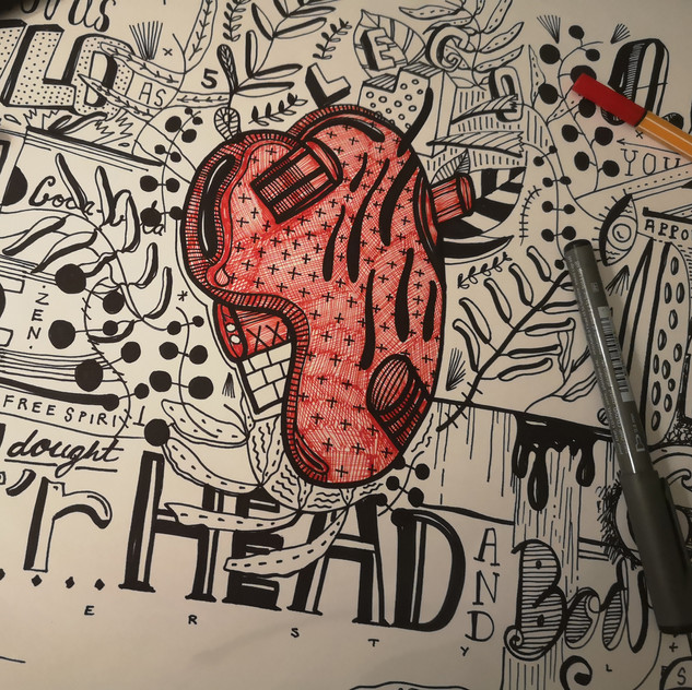 TOOK MY HEAD TOOK MY HEART | ORIGINAL WORK ON PAPER |