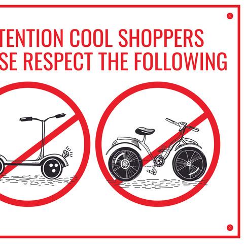 NO SCOTTS NO BIKES SIGN | MB BURGER | RESPECT