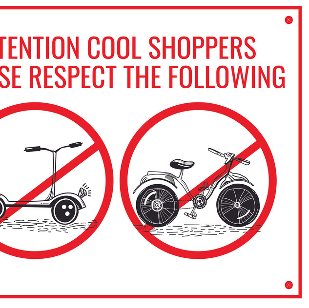 NO SCOTTS NO BIKES SIGN | MB BURGER | RESPECT