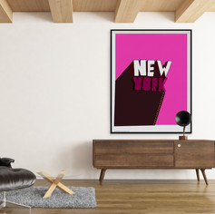NEW YORK |PINK ME UP | LIMITED EDITION SIGNED PRINT