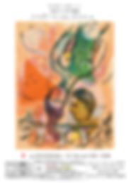 Marc Chagall,Poem, 販売作品,Tsukishima Art School, Da Vinci House,wood block prints,Earthquake Children Support