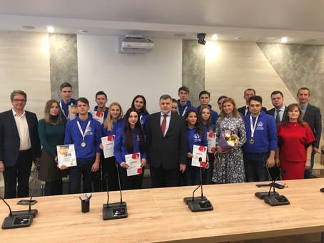 Представители руководства вуза поздравили ребят с успешными результатами на Worldskills Russia