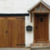 Garage doors + porche