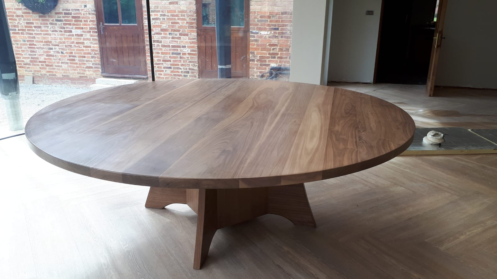 American Black Walnut Circular Conference Table