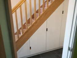 Oak Staircase and Spandrel Storage