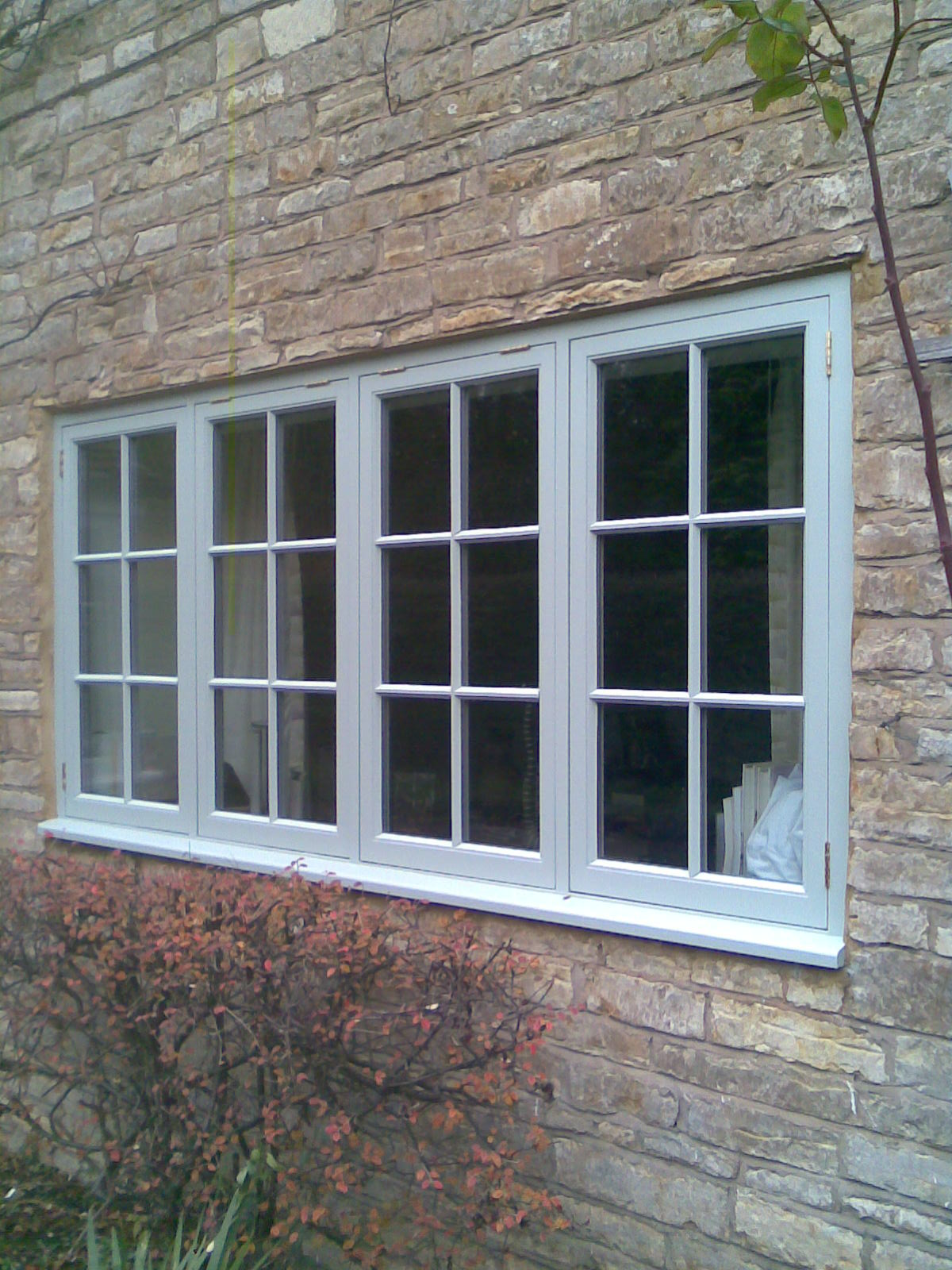 Hardwood Flush Windows