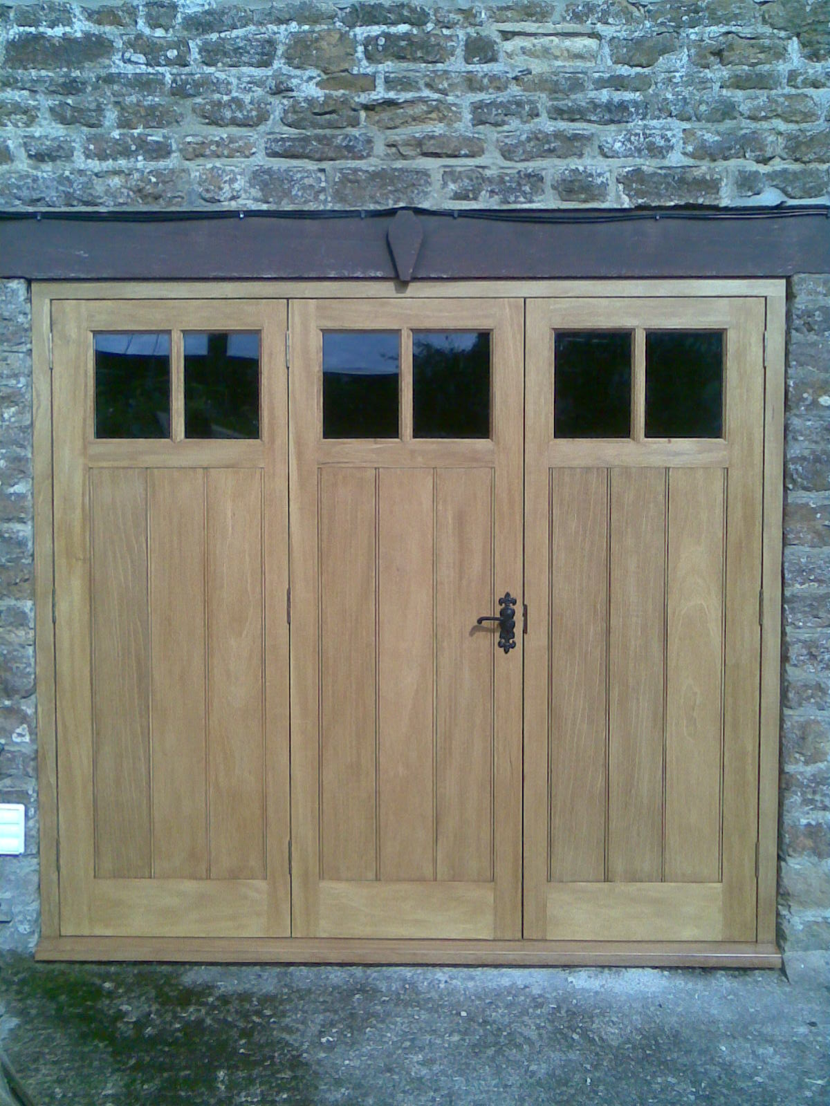 Hardwood Folding Garage Door