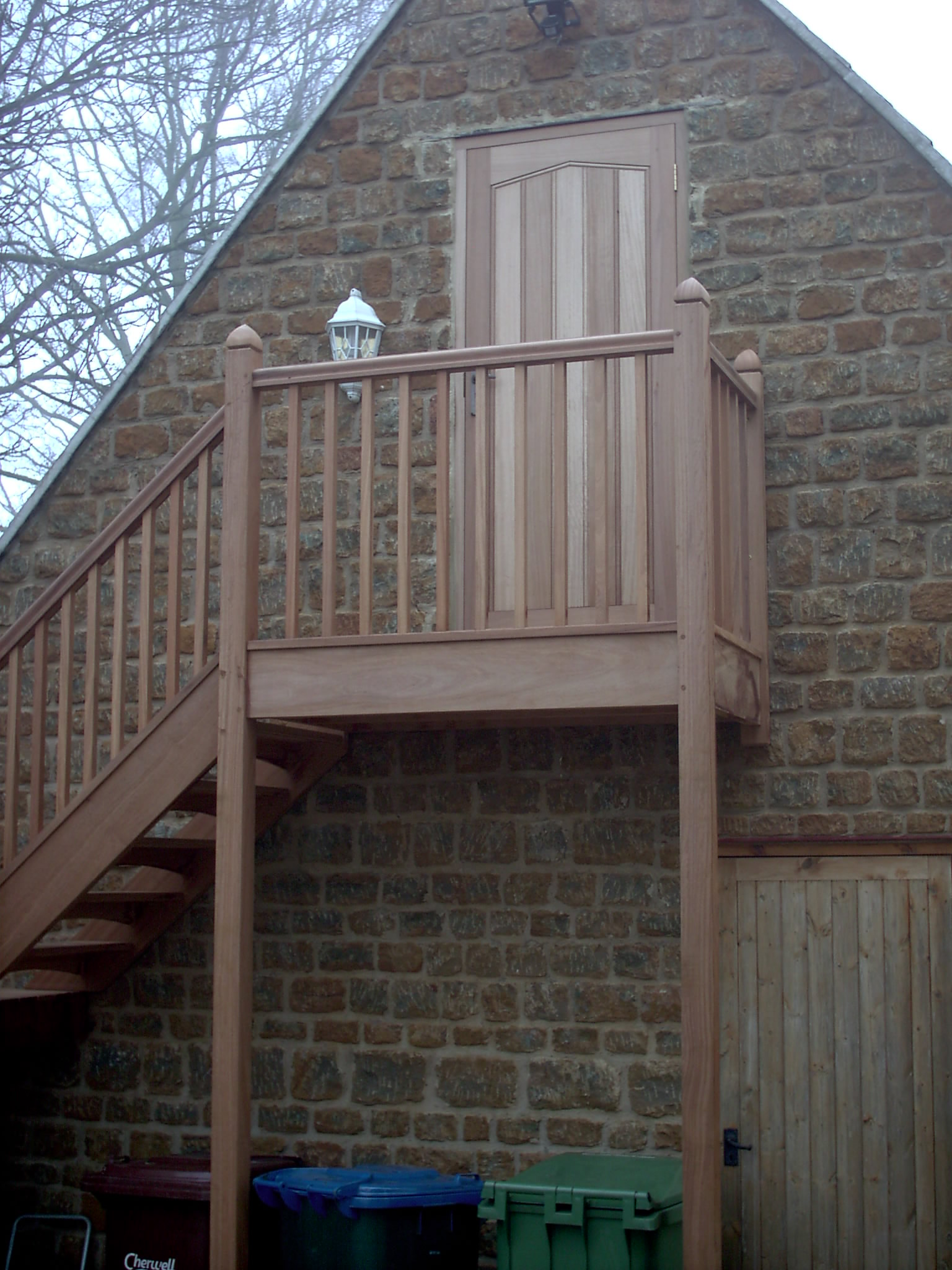 Exterior Staircase and Door
