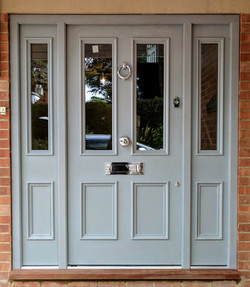 Primed Sapele Door with Bolection Moulding
