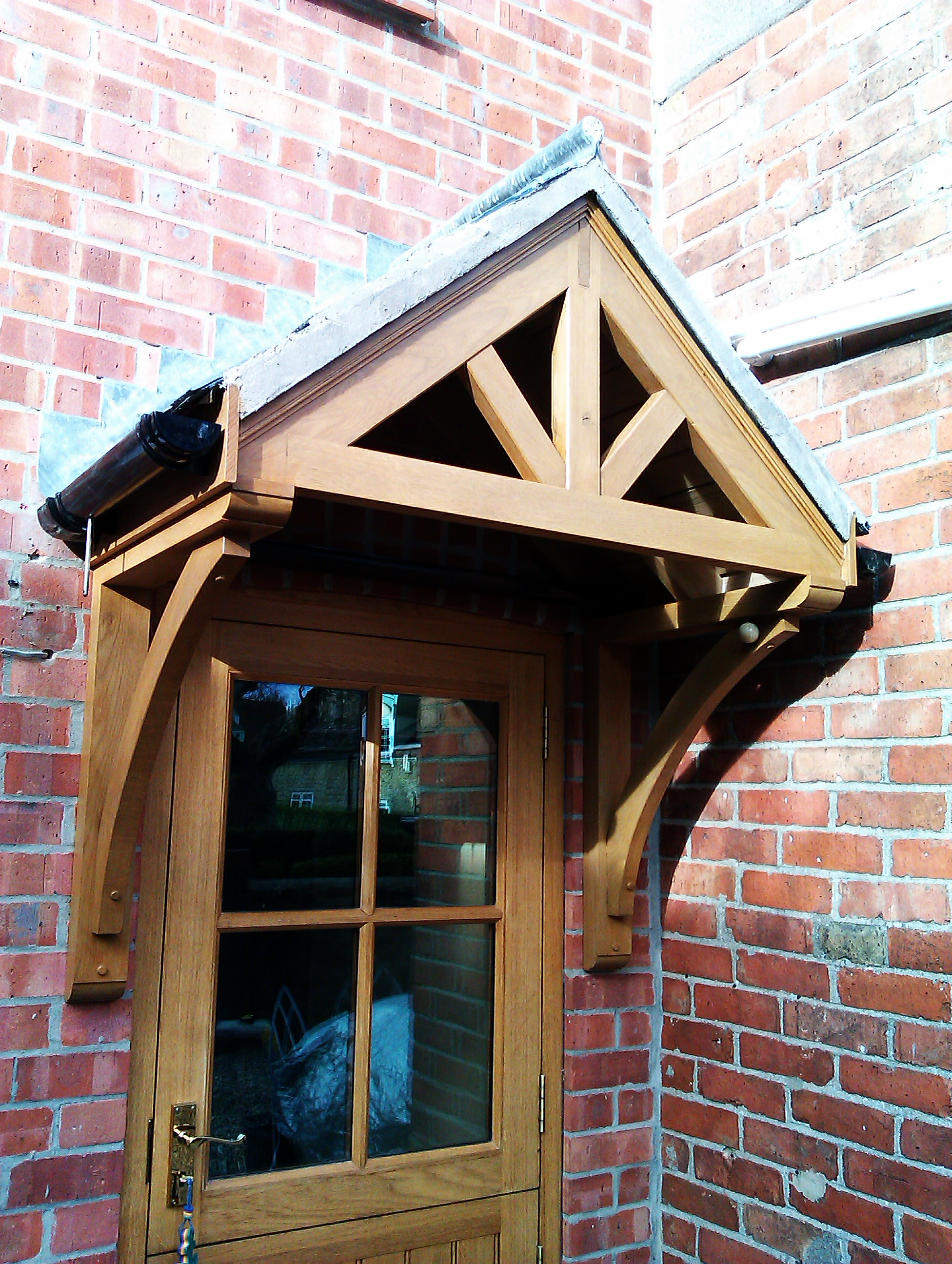 Hardwood Porch and Front Door