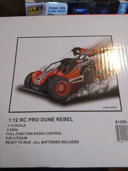 80f9e1fce55 Brand New. Never used. Open box item. New RC Bright Dune Rebel 1:12 RC Pro Full  functional radio control 9.6 lithium battery Missing controller Blue in ...