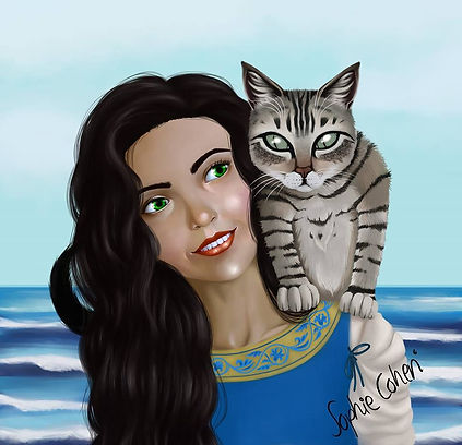Eva and Midnight, characters from TheCursed Girl by Maria Vermisogou
