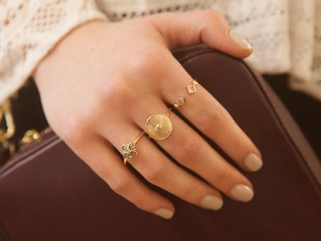 Bijoux créateur   Comment composer ses propres ensembles de bagues dorées