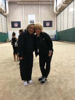 Coach Lyudmila with Coach Lana