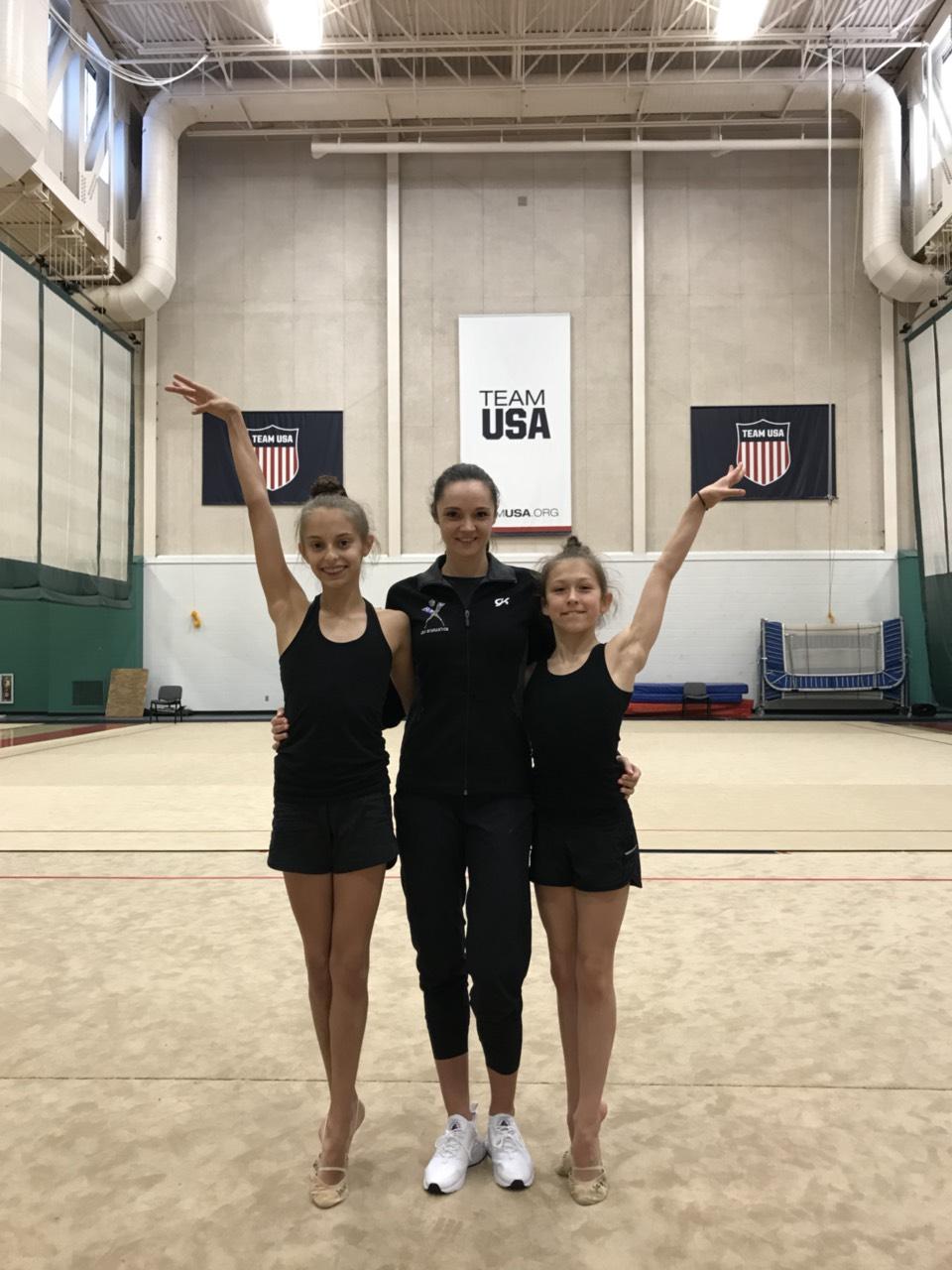 Our gymnasts Katrine and Deanna with Ann