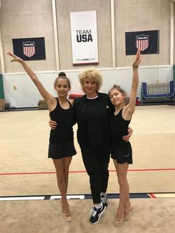 Coach Lyudmila, Katrine and Deanna
