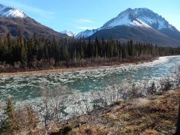 Alaska frozen river