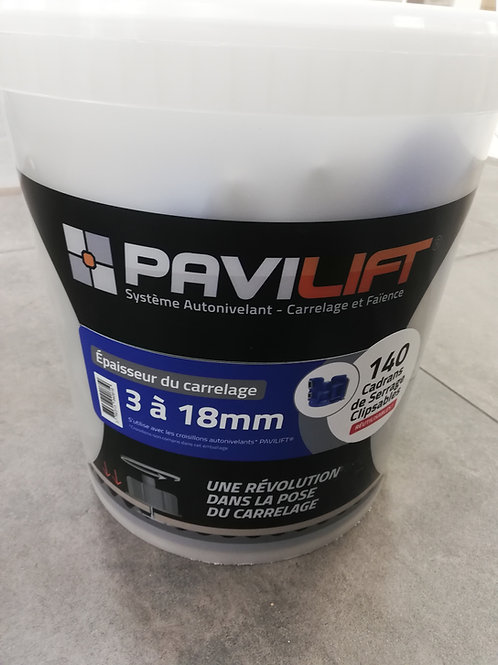 Seau de 140 cadrans de serrage SPEED PAVILIFT 3-18mm