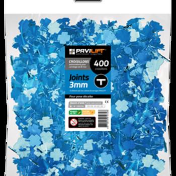 Sachet de 400 croisillons autonivelants PAVILIFT 3mm en T